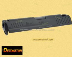 Detonator CNC Aluminum Slide Set for KSC/Umarex HK45 GBB (Black)